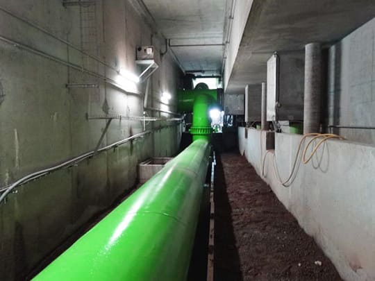 Stratification sur canalisation